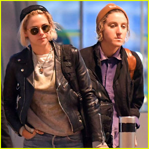 Kristen Stewart & Alicia Cargile Fly Out of France Together