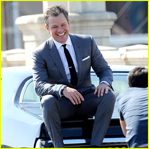 Matt Damon Suits Up for Photo Shoot With Car