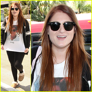 Meghan Trainor Wears 'Swag' Shirt to Airport
