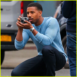 Michael B. Jordan Plays Mock Photographer for Photo Shoot