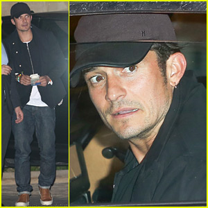 Orlando Bloom Attends Private Beach Club Opening in Malibu