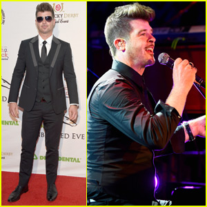 Robin Thicke Takes the Stage at Kentucky Derby Gala