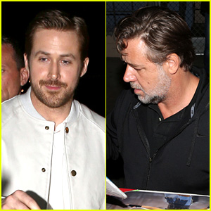 Ryan Gosling & Russell Crowe's First Time Meeting Didn't Go as Planned - Watch Now!