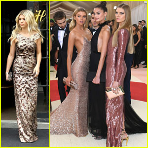 Stella Maxwell & Sofia Richie Rock Metal Looks For Met Gala 2016