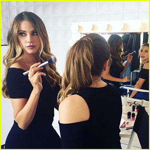 Sofia Vergara Plays Makeup Artist for Covergirl Shoot