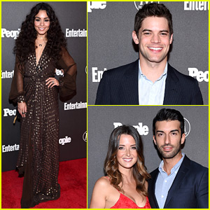 Vanessa Hudgens Joins Stars at EW & People's Upfronts Party