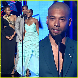 Aja Naomi King, Nate Parker, & Gabrielle Union Present at BET Awards 2016