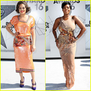 Andra Day & Fantasia Barrino Arrive in Style for BET Awards 2016