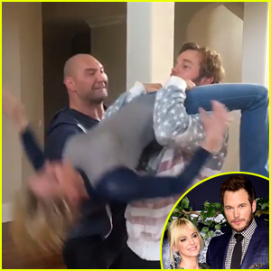 Anna Faris Wraps Legs Around Chris Pratt's Neck in Wrestling Video - Watch Now!