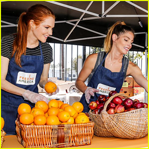 Ashley Greene & Darby Stanchfield Serve Meals for Feeding America Volunteer Event