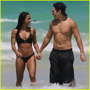 Austin Mahone & Girlfriend Katya Henry Have Fun in the Sun in Miami