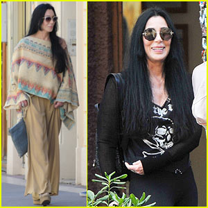 Cher Relaxes on Vacation in Europe