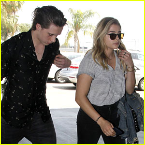 Chloe Moretz & Brooklyn Beckham Catch a Flight Together