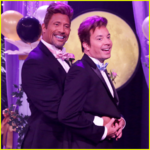 Dwayne Johnson & Jimmy Fallon Are Awkward Teens In Hilarious 'Tonight Show' Prom Sketch - Watch Now!