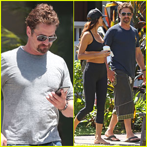 Gerard Butler Is Back Home After Hawaii Trip with Morgan Brown