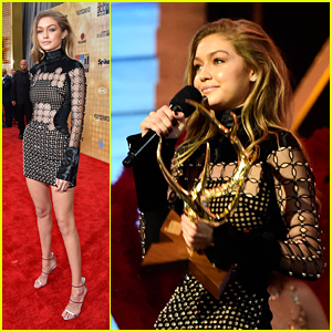 Gigi Hadid Wins 'Our New Girlfriend' at Guys' Choice Awards 2016