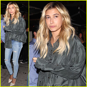 Hailey Baldwin Spotted Out Solo After Dining Out With Drake