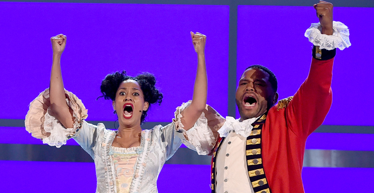 Tracee Ellis Ross & Anthony Anderson Spoof 'Hamilton' at BET Awards 2016 – Watch Now!