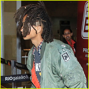 Jaden Smith Rides a Luggage Scooter Through Rio Airport