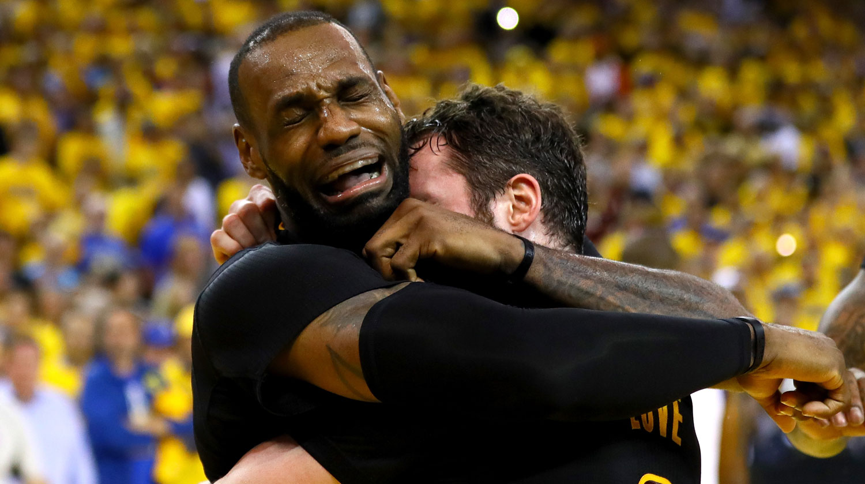 LeBron James Cries & Gets Emotional After NBA Finals Win ...