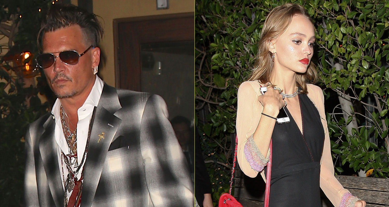 Johnny Depp Has Family Dinner With Daughter Lily-Rose ...