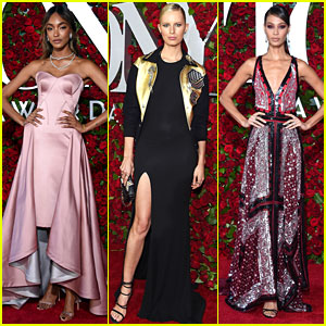 Models Jourdan Dunn, Karolina Kurkova, & Joan Smalls Attend the Tony Awards 2016