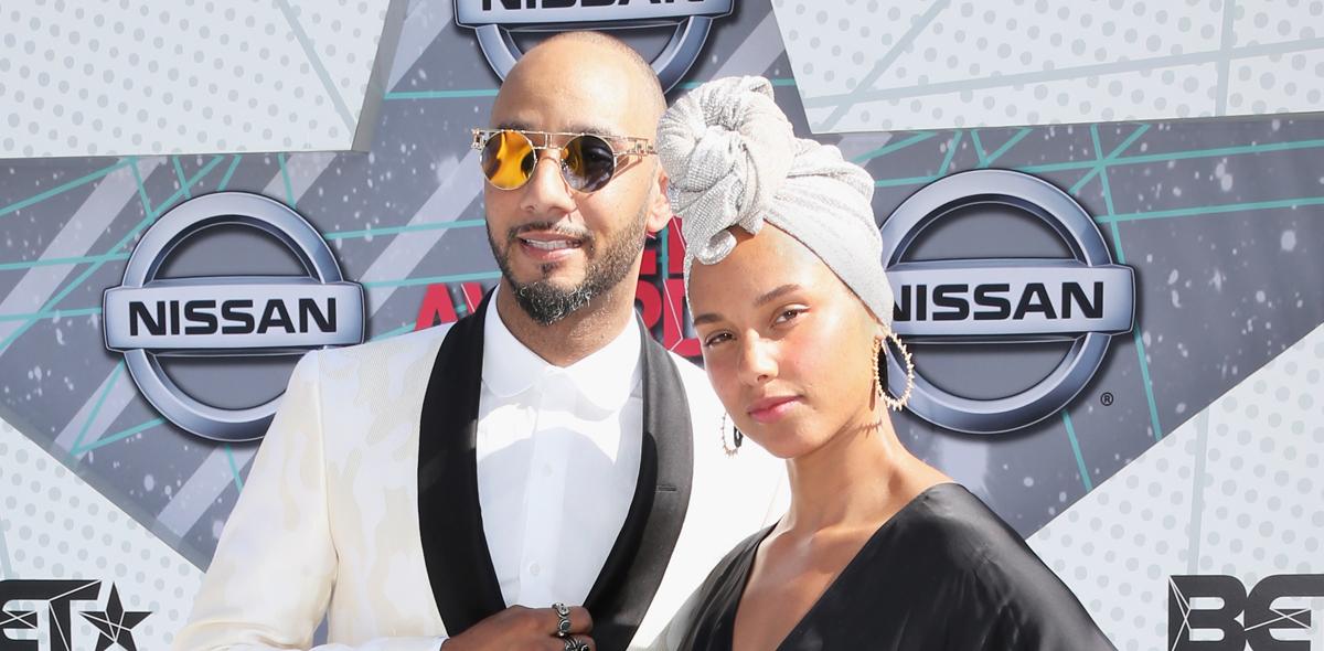 Alicia Keys & Husband Swizz Beatz Step Out for BET Awards 2016