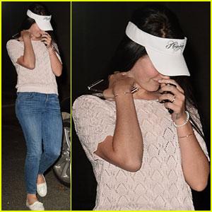 Lana Del Rey Rocks a Visor for Nice Guy Night Out