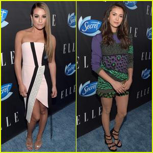 Lea Michele & Nina Dobrev Step Out for Elle's Women in Comedy Event