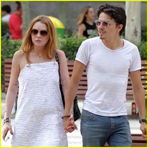 Lindsay Lohan Gets Lunch in Spain with Fiance Egor Tarabasov
