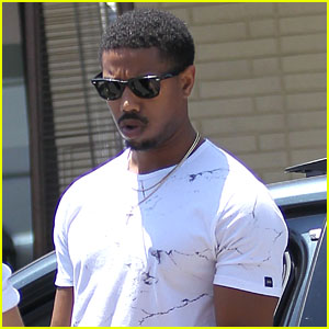 f92d190fc146b4 Michael B. Jordan steps out for lunch at The Palm on Thursday (June 2) in Beverly  Hills