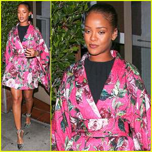 Rihanna Wears Floral Kimono for Dinner at Her Favorite Spot