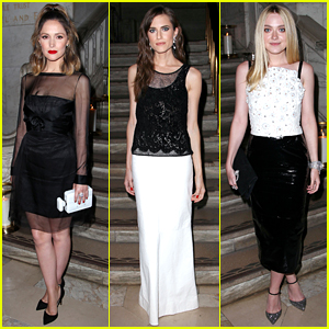 Rose Byrne, Allison Williams, & Dakota Fanning Dress in Black & White for Chanel Fine Jewelry Dinner