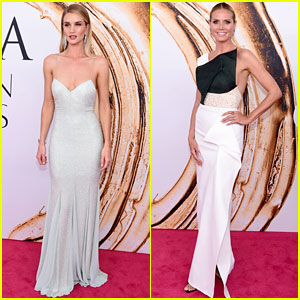 Rosie Huntington-Whiteley & Heidi Klum Stun at CFDA Fashion Awards 2016!