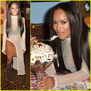 Serayah Celebrates Turning 21 With Dinner in LA