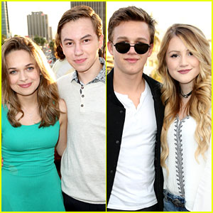 The Fosters' Hayden Byerly & Gavin MacIntosh Bring Girlfriends to JJJ's Celebration of Disney's MXYZ Collection