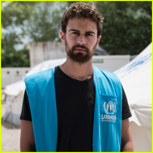 Theo James Spends Time in Greece Before World Refugee Day
