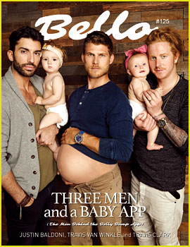 Travis Van Winkle Is Pregnant for 'Three Men & a Baby' Shoot with Justin Baldoni & Travis Clark!