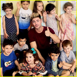 Zac Efron Encourages Adorable Kids to Stay in School