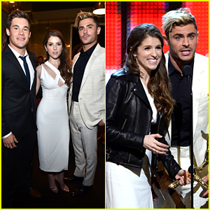 Zac Efron & Adam DeVine Present to Anna Kendrick at Guys' Choice Awards 2016