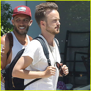 Aaron Paul Shares Cute Photo with Wife Lauren Parsekian!
