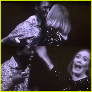 Adele Accidentally Kisses Fan on Lips During Concert! (Video)