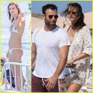 Alessandra Ambrosio Sports a Tiny Bikini While Yachting