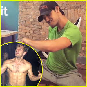 Alex Pettyfer Recreates 'Magic Mike' Dance in His Office! (Video)