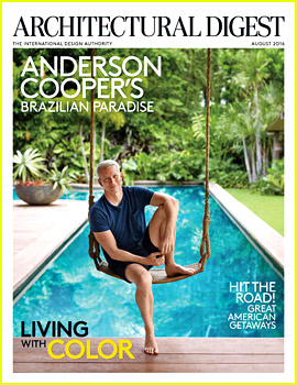 Anderson Cooper Gives Tour of His Vacation Home for 'Architectural Digest' Cover Spread!