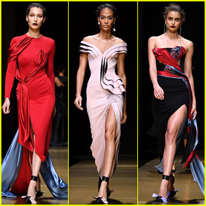 Bella Hadid & Joan Smalls Walk the Versace Runway in Paris