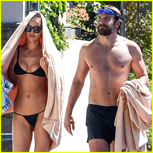 Bradley Cooper & Irina Shayk Bare Hot Beach Bodies in Italy!