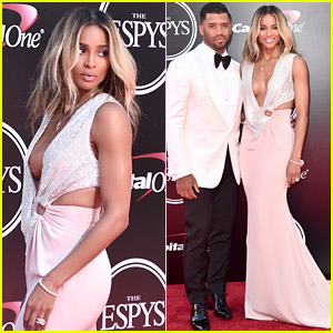 Ciara & Russell Wilson Make First Newlywed Appearance at ESPYs 2016!