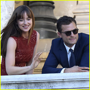 Dakota Johnson & Jamie Dornan Take 'Fifty Shades' to Paris