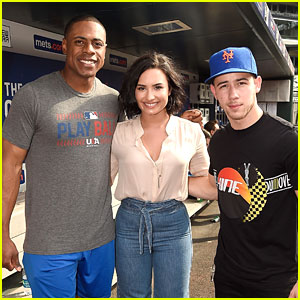 Nick Jonas & Demi Lovato Hit Up Citi Field For NY Mets Game
